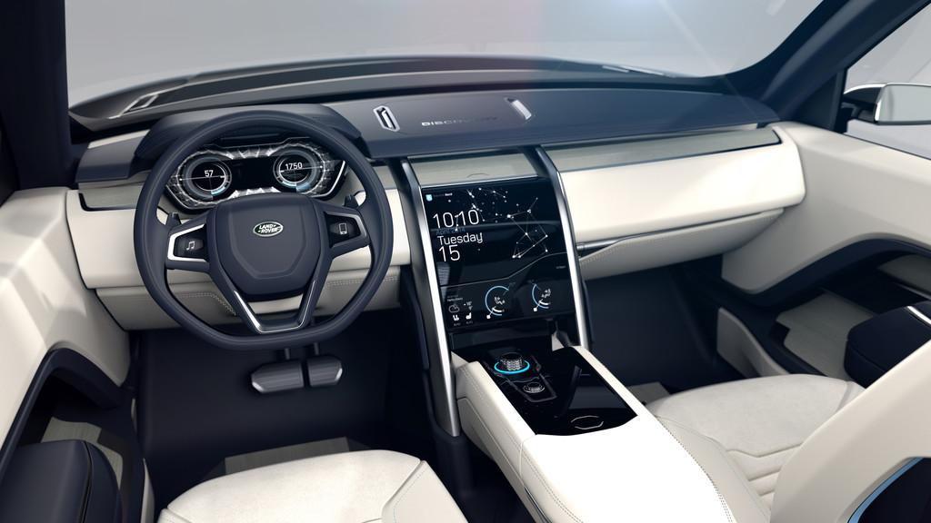 Das Lenkrad, Mittelkonsole des Land Rover Discovery Vision Concept