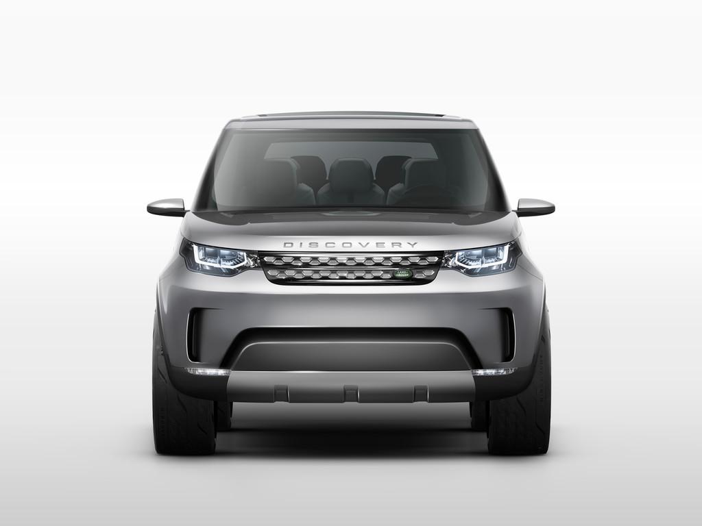 Die Frontpartie der Studie Land Rover Discovery Vision Concept mit Laser Scheinwerfer