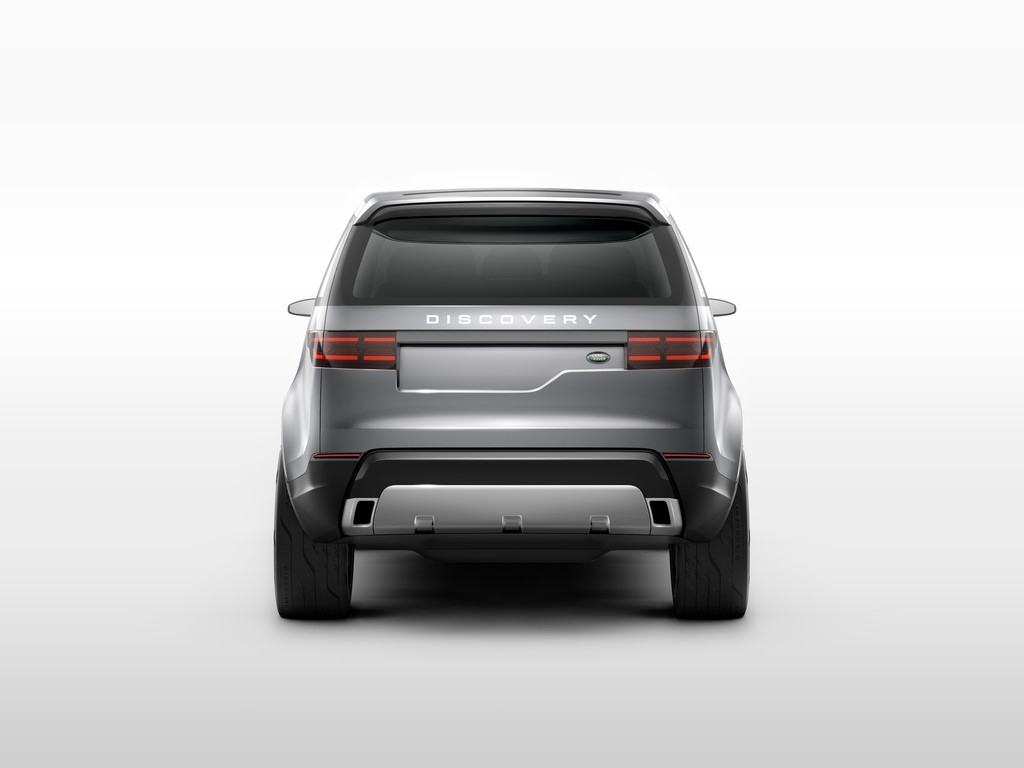 Die Hecklappe des Land Rover Discovery Vision Concept