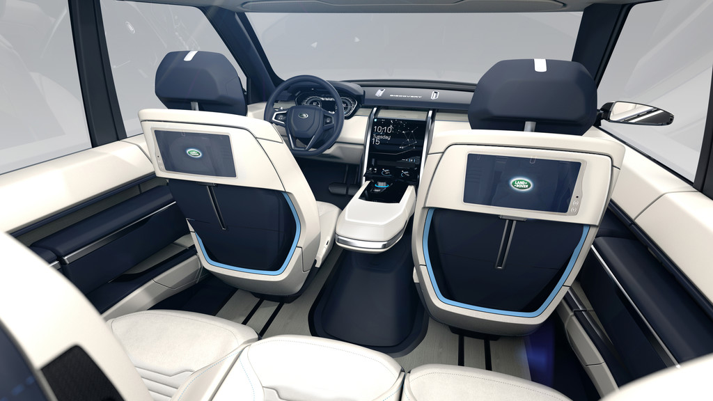 Blick in den Innenraum des Land Rover Discovery Vision Concept