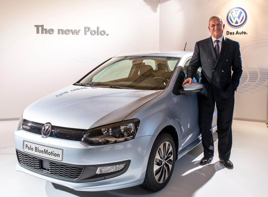 Volkswagen-Chef Martin Winterkorn bei der Vorstellung des neuen Volkswagen Polo.