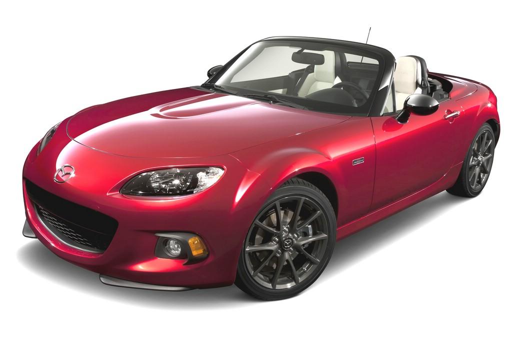 """Mit dem Sondermodell """"25th Anniversary"""" feiert Mazda das Silberjubiläum des erfolgreichen MX-5."""