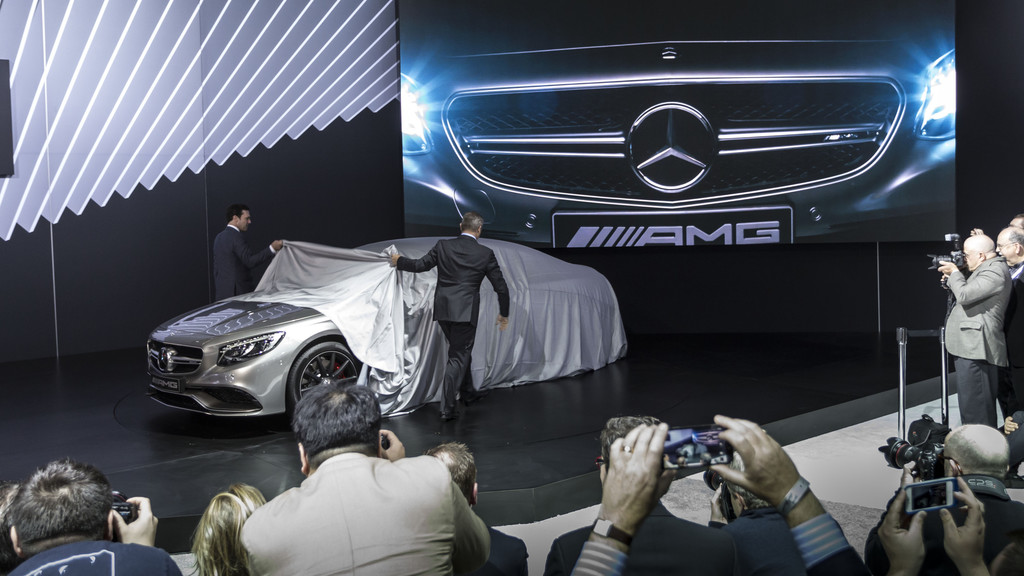 Das Mercedes S63 AMG Coupé wird in New York enthüllt