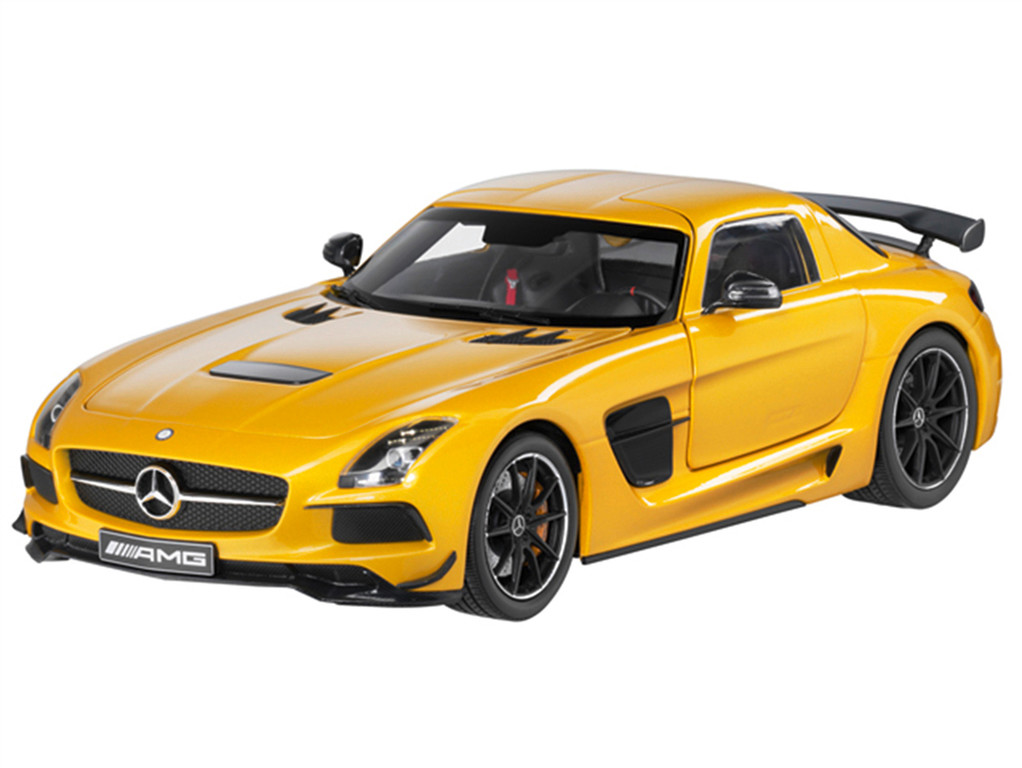 Modellauto SLS AMG Coupé Black Series in gelb