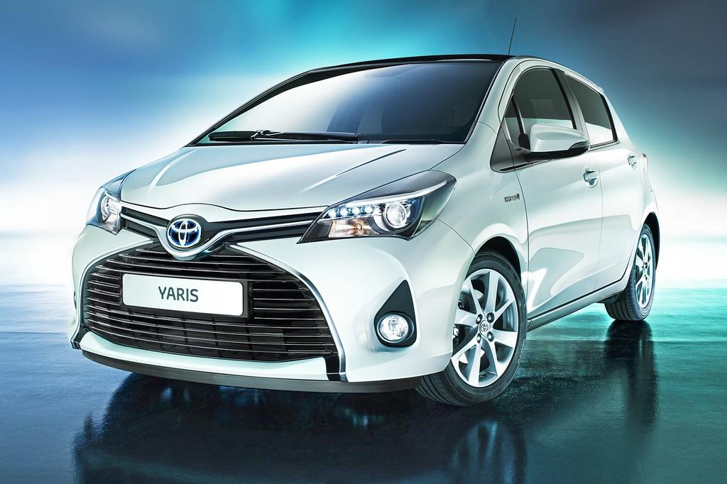 Die Frontpartie des neuen (2014) Toyota Yaris