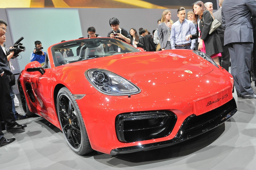 Porsche Boxster GTS auf der Auto China 2014 in Peking
