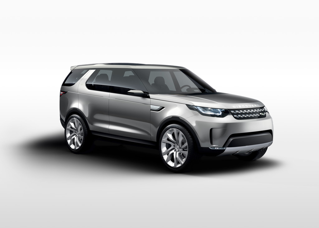 Front- und Seitenansicht des Land Rover Discovery Vision Concept