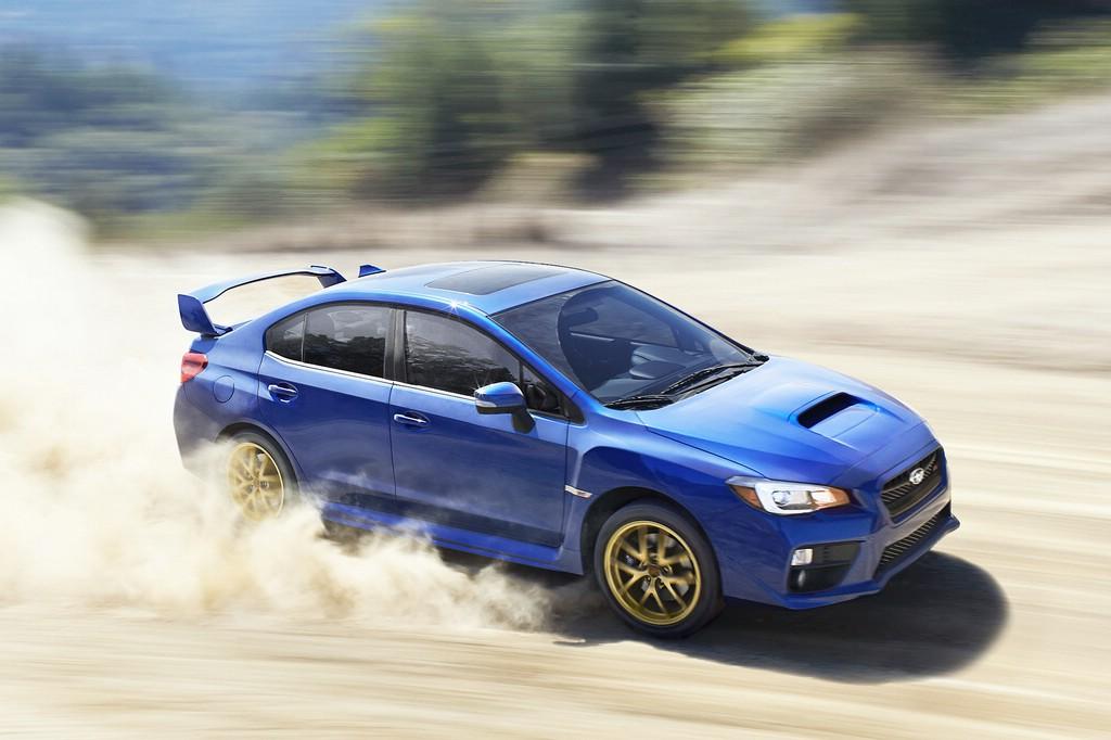 Allradauto Subaru WRX STI in der Wüste
