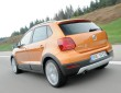 Die Heckpartie des VW CrossPolo in orange