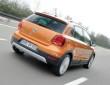 In Orange: Der neue (2014) VW CrossPolo von hinten