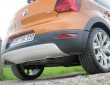Der Unterfahrschutz an Heckstoßfänger des VW CrossPolo