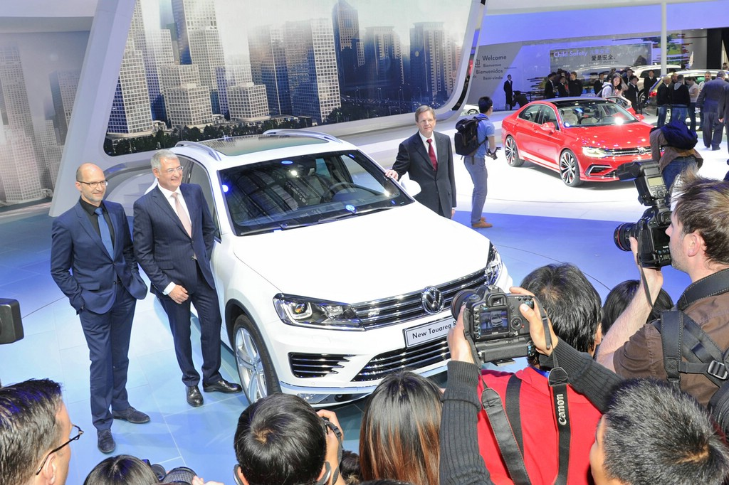 VW Touareg 2014 auf der Auto China 2014 in Peking
