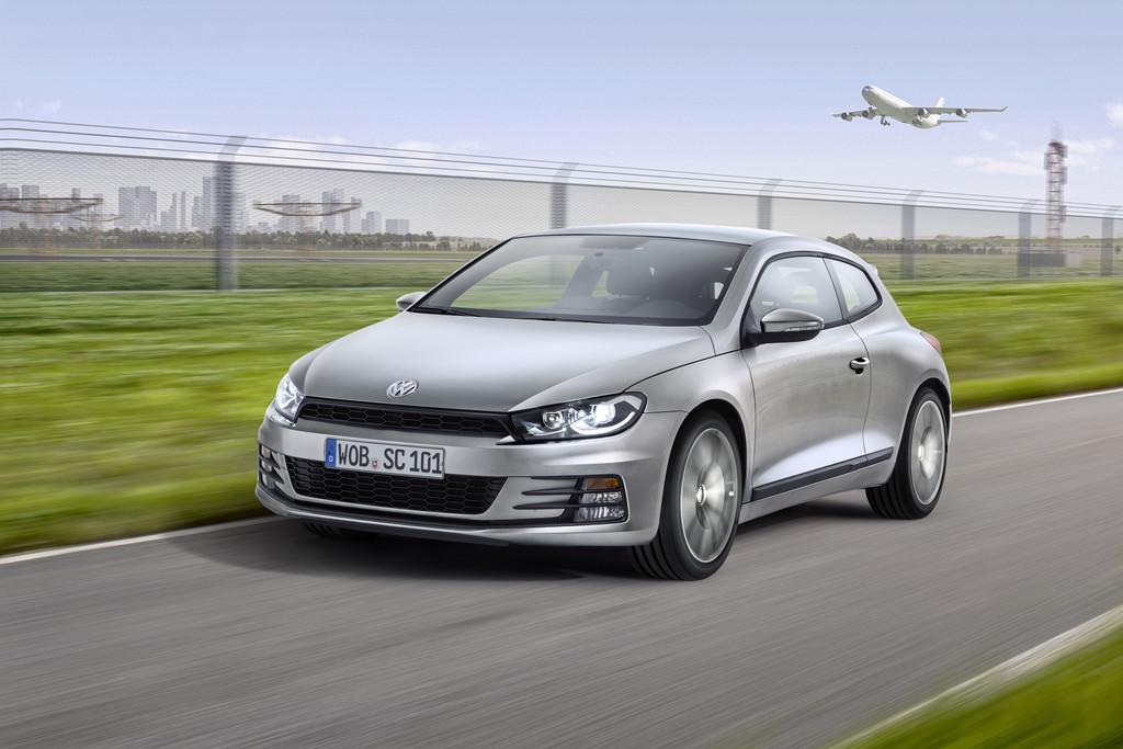 Fahraufnahme vom Volkswagen Scirocco Modellpflege 2014