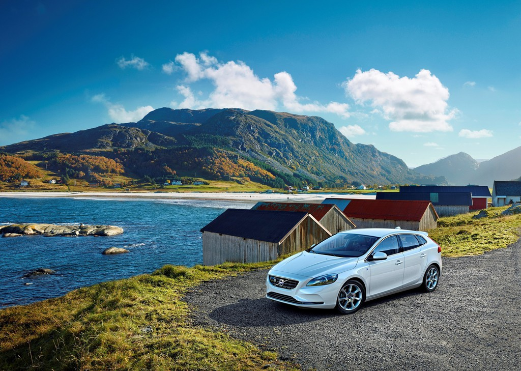 Außenaufnahme von der Volvo V40 Ocean Race Edition