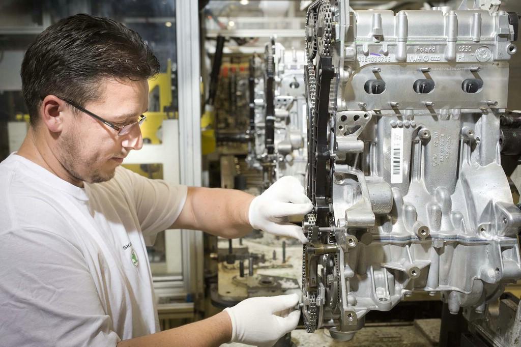 Produktion des 1,2 http-Motor von Skoda Fahrzeugen