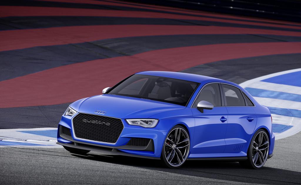 Sportlimousine Audi A3 Clubsport Quattro Concept auf der Rennstrecke
