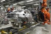 Die Produktion der 3er Limousine im BMW-Werk München.