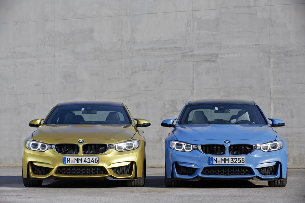 Die Frontpartie der neuen Baureihen BMW M3 und M4