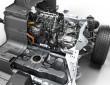 Der Dreizylinder Motor des Sportwagens BMW i8