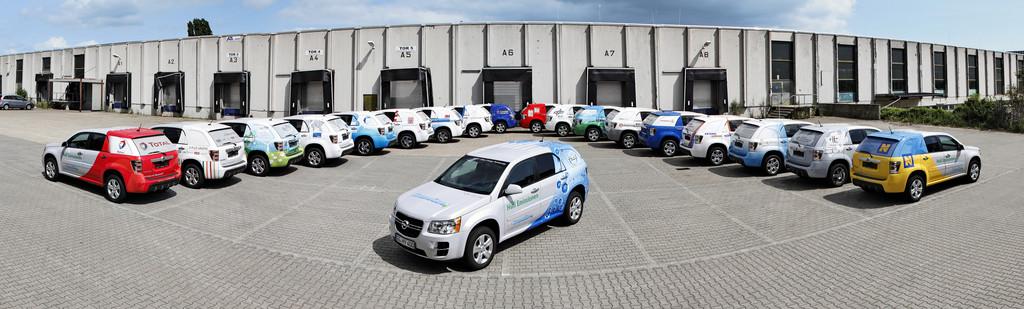 Die Brennstoffzellenflotte von Opel im Jahre 2014