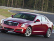 Roter Cadillac ATS in der Frontansicht