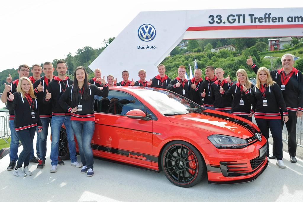 Diesen Golf GTI haben die Ausbildende von VW gebaut