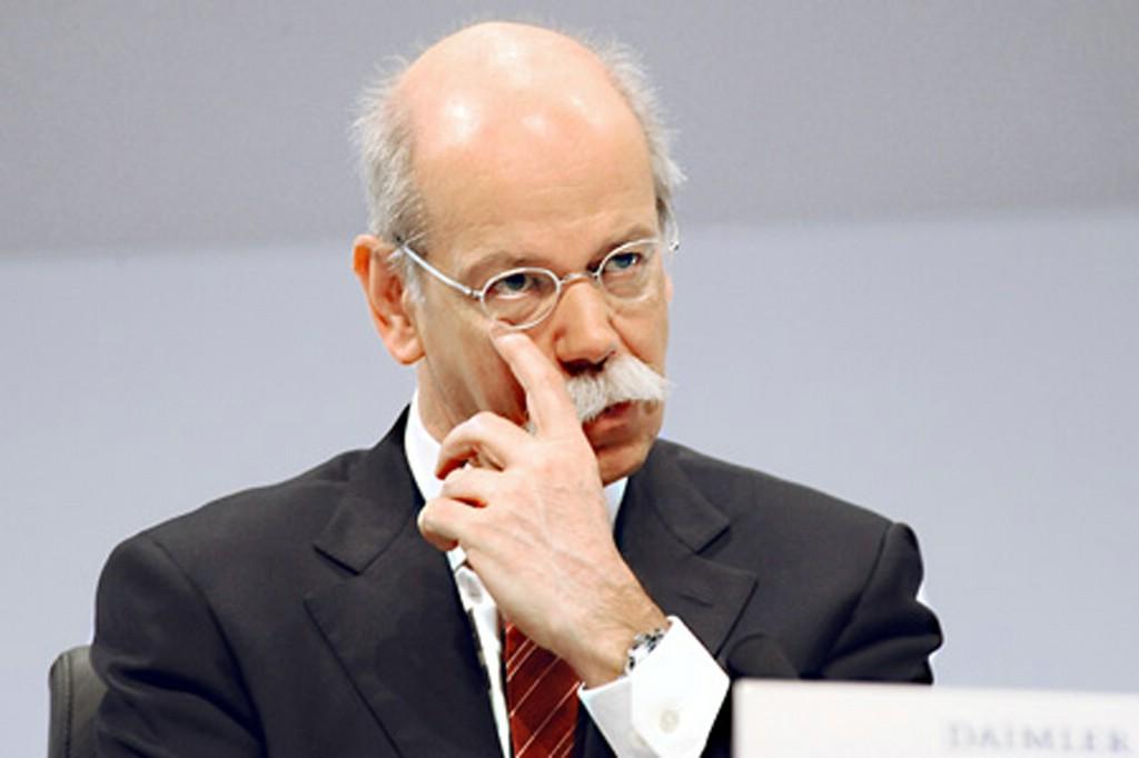 Nachdenklicher Daimler-Chef Dieter Zetsche
