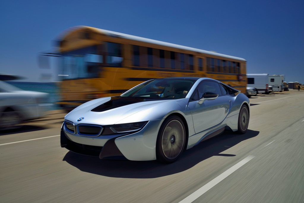 Der BMW i8 bei den Tests in Kalifornien