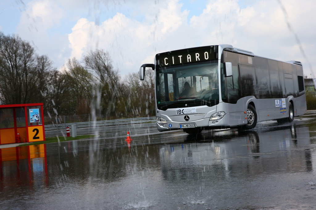 "Test Mercedes-Benz Citaro bei der ""International Bus Competition"" (IBC)."