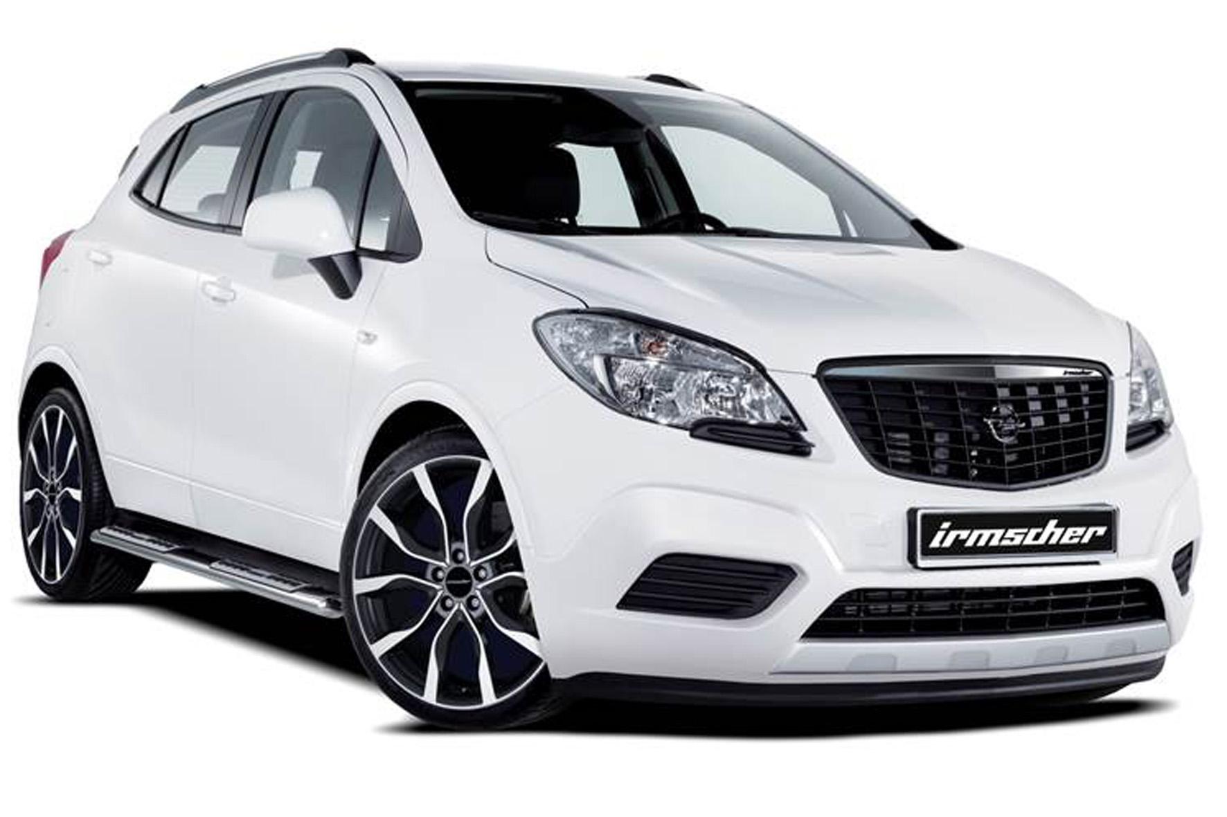 Opel Mokka mit Irmscher Felgen in Weiß