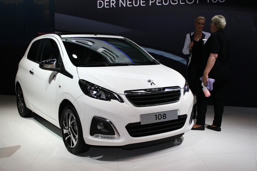 Präsentation des Kleinstwagens Peugeot 108 auf der AMI Leipzig