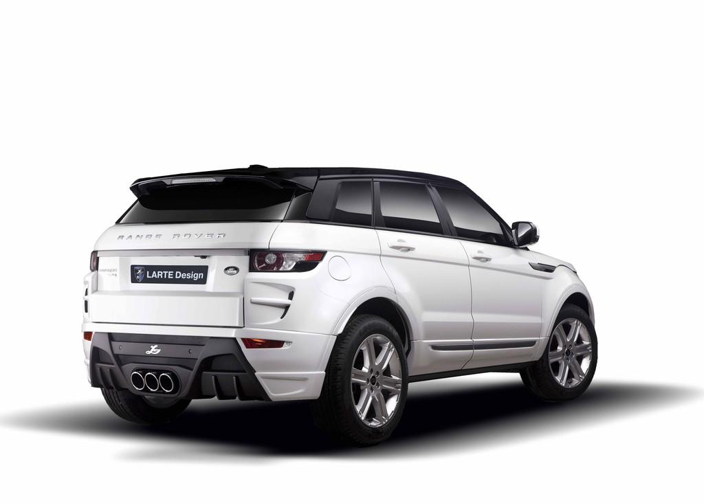 weißer Range Rover Evoque Tuning mit Larte-Teilen