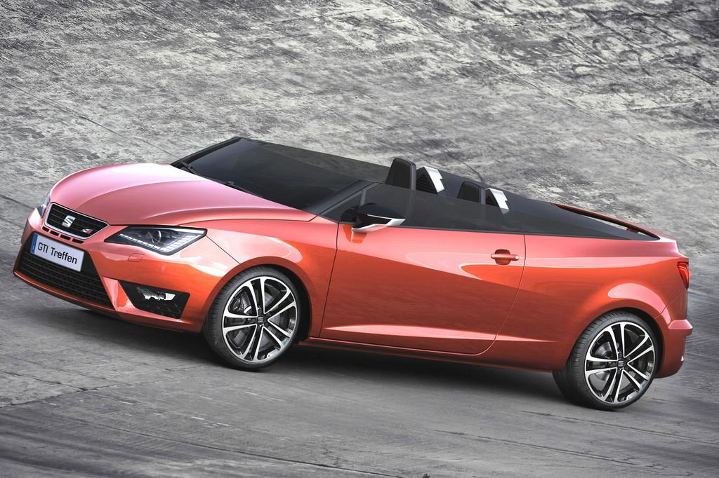 Showcar Seat Ibiza Cupster in orange wird erstmals beim GTI-Treffen 2015 zu sehen sein