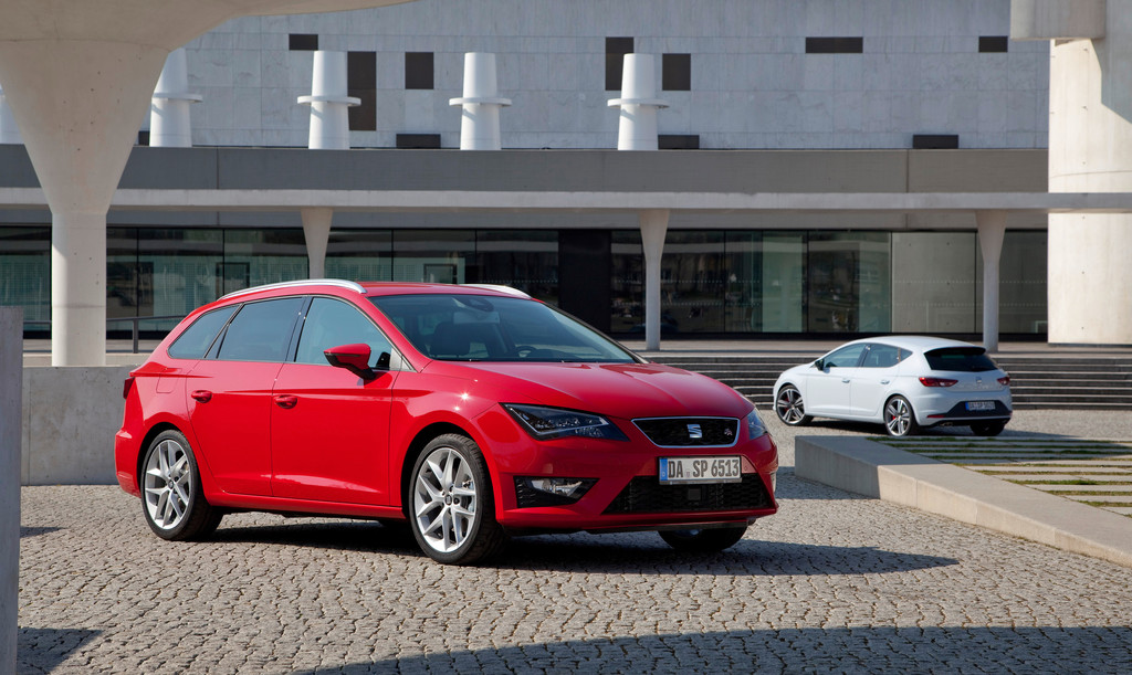 Die aktuellen (2014) Seat Leon ST und Seat Leon Cupra