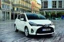 Die Frontansicht des facegelifteten Toyota Yaris 2014