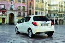 Die Heckpartie des modellgepflegten Toyota Yaris 2014