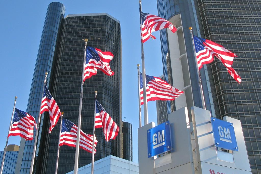 Die Zentrale von General Motors in Detroit (USA)