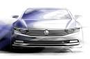 Eine Skizze vom VW Passat Modellgeneration 2015