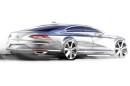 Skizze zeigt den VW Passat 2015 in der Seitenansicht