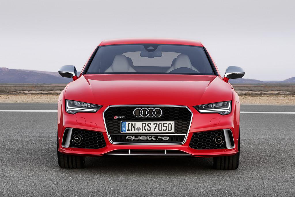 Die Frontpartie des neuen Audi RS7 Sportback 2014 Facelift