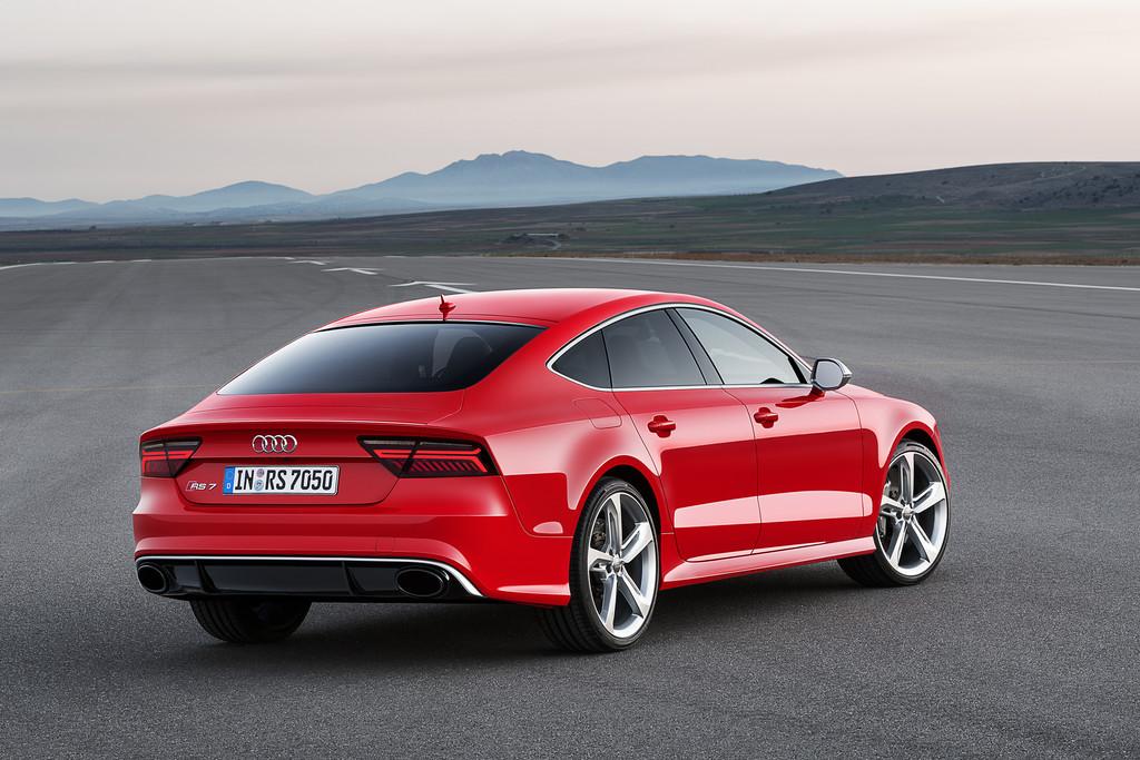 Heck- und Seitenpartie des Audi RS7 Sportback 2014 Facelift
