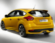 Ford Focus ST Facelift 2015 in Farbe orange mit 19 Zoll Rädern