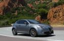 Matt-grauer Alfa Romeo Mito Quadrifoglia Verde bei der Presse-Fahrt