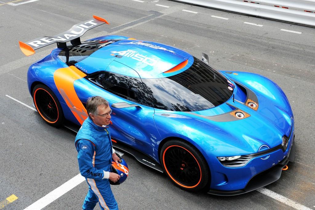 Konzeptfahrzeug Alpine A110-50 in blau