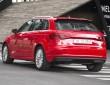 Aufnahme von hinten Hybridfahrzeug Audi A3 Sportback e-tron