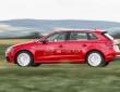 Roter Audi A3 Sportback e-tron bei der Fahrt