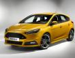 Die Scheinwerfer des Ford Focus ST Facelift 2015