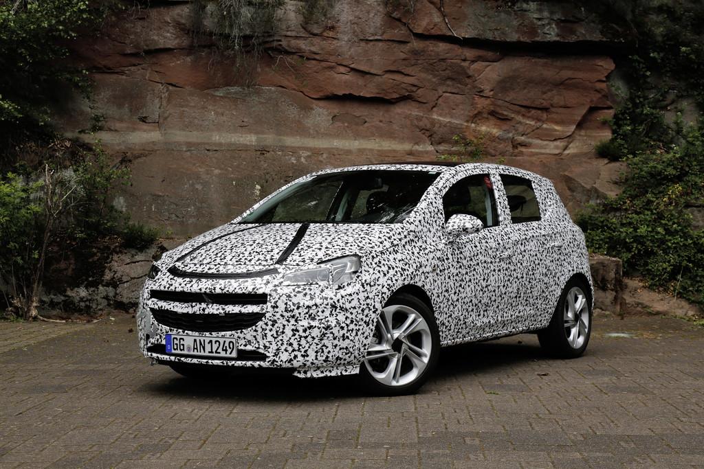 Opel Corsa E Modellgeneration 2015 verdeckt