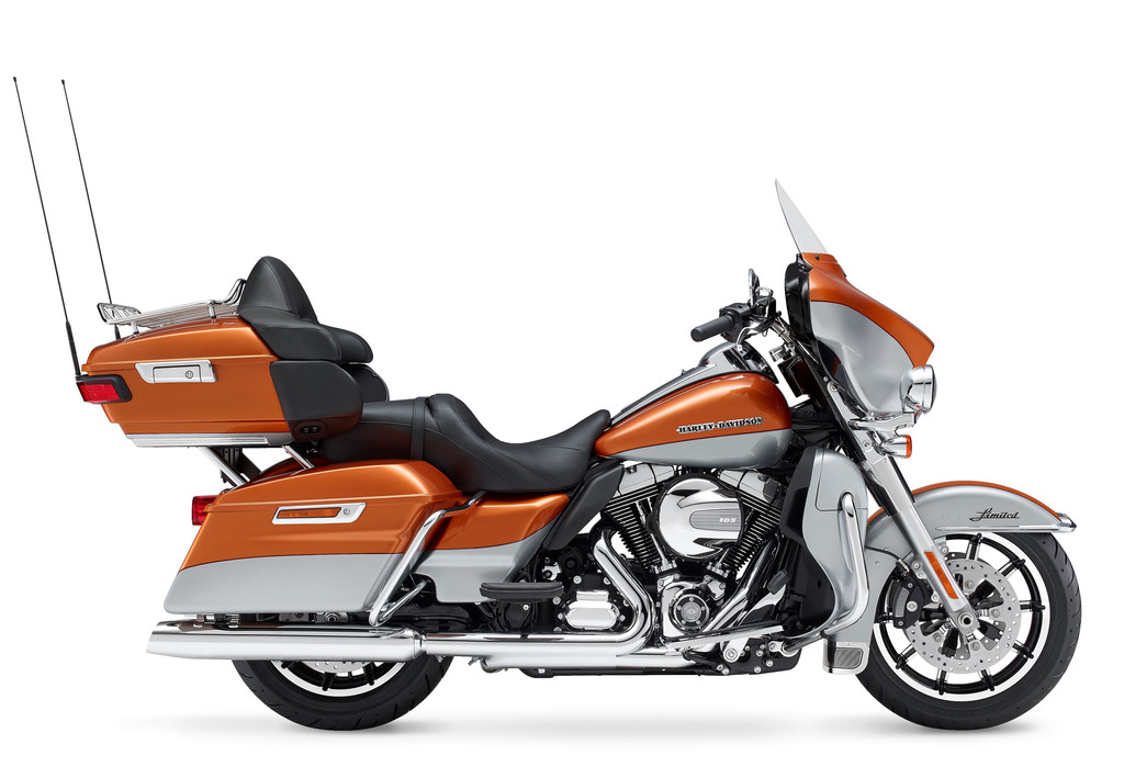 Harley-Davidson Electra Glide Touring Ultra Limited in orange/schwarz