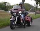 Testfahrzeug Harley-Davidson Tri Glide Ultra beim Test